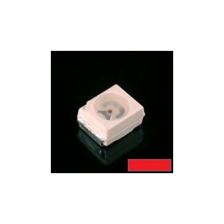 Led CMS PLCC2 topled 2V 625nm 60° 10mcd rouge