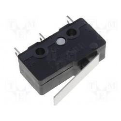 Microswitch à levier sorties sur cosses à câbler