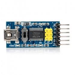 Carte convertisseur FTDI-USB / vers TTL-FT232 Alimentation 3,3 ou 5V