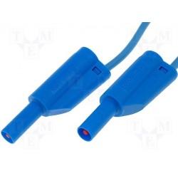 Cordon de sécurité à reprise arrière 4mm bleu longueur 25cm