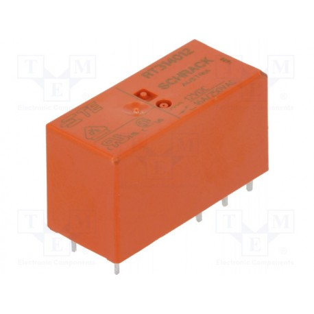 Relais type Schrack SPDT 1R/T 12Vdc 360ohms 16Amp