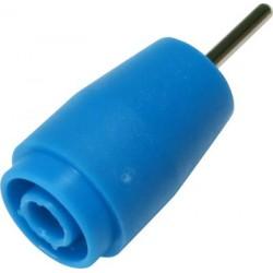 Douille de sécurité bleue pour fiche 4mm raccord tige Ø 1,9 x 13 mm pour circuit imprimé