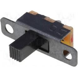 Inverseur miniature à glissière unipolaire