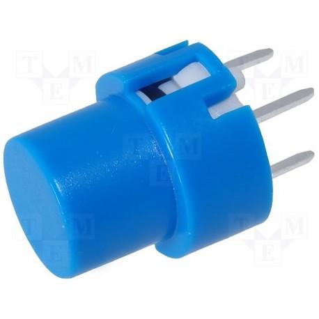 Touche pour circuit imprimé type D6 bleue