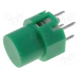 Touche pour circuit imprimé type D6 verte