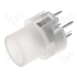 Touche pour circuit imprimé type D6 blanche
