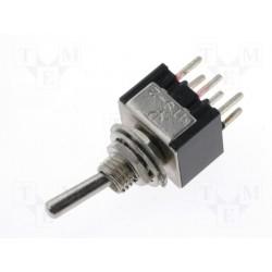 Inverseur miniature bipolaire à levier on / on pour circuit imprimé
