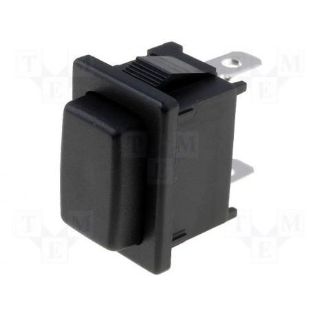 Poussoir unipolaire 19x13mm 1 N/O