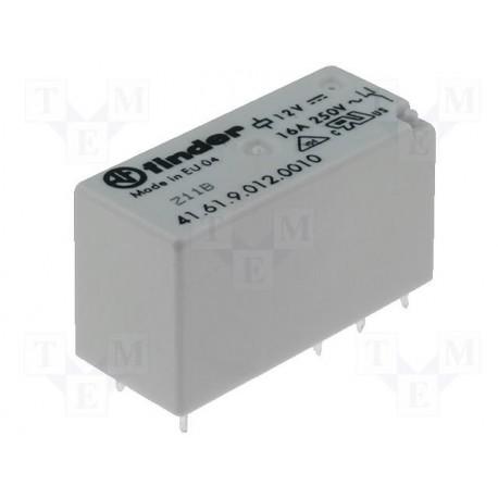 Relais type Finder 4161 1R/T 16Amp. 12Vdc