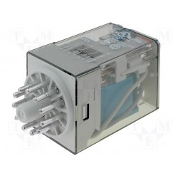 Relais type Finder 3 R/T type 6013 24Vdc 10Amp.