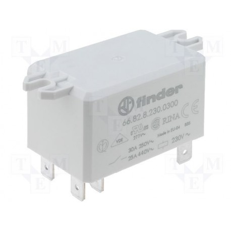 Relais Finder type 6682 2R/T 30Amp. 12Vdc
