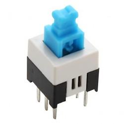 Inverseur à poussoir bipolaire pour circuit imprimé 7x7mm on / on