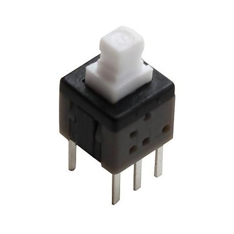 Inverseur à poussoir bipolaire pour circuit imprimé 6x6mm on / on