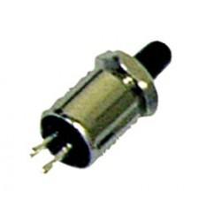 Poussoir miniature contact travail noir Ø perçage 5,2mm