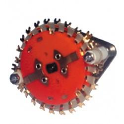 Commutateur rotatif à cosses 4 circuits / 6 positions