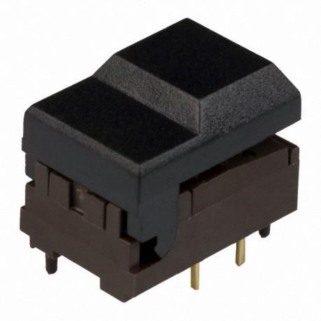 Touche digitast pour circuit imprimé 1T noire