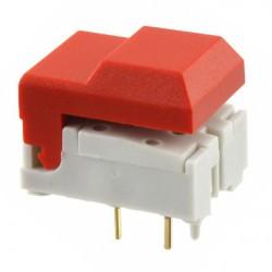 Touche digitast pour circuit imprimé 1T rouge