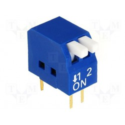 Inter dip-switch 2 contacts dil4 type piano