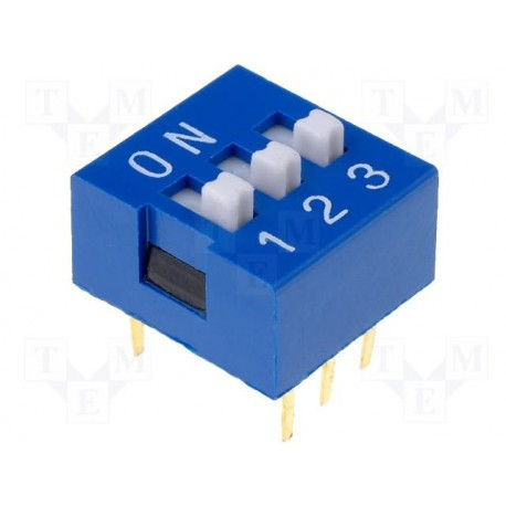 Inter dip-switch 3 contacts dil6