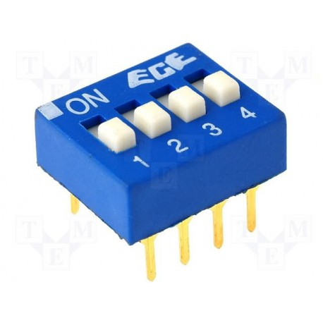Inter dip-switch 4 contacts dil8