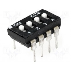 Inter dip-switch 4 contacts encastrés dil8