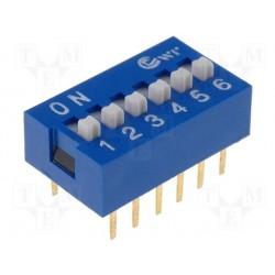 Inter dip-switch 6 contacts dil12