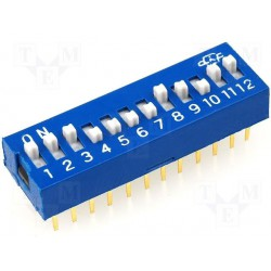 Inter dip-switch 12 contacts dil24