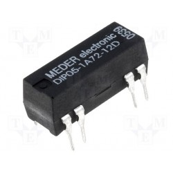 Relais reed 5Vdc 1 contact travail + diode
