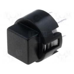 Touche type D6 carré noire