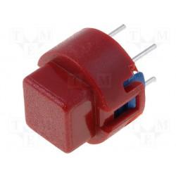 Touche type D6 carré rouge
