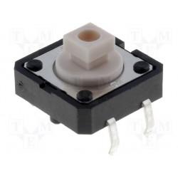 Touche pour circuit imprimé 12x12x7,3mm