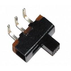 Inverseur miniature à glissière coudé unipolaire