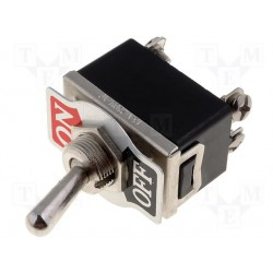 Interrupteur bipolaire à levier on / off 16amp. 250V Ø de perçage 12mm