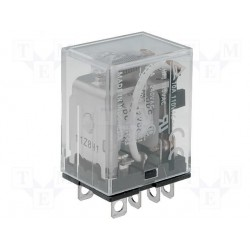 Relais type Omron LY2 2R/T 10Amp. 12Vdc