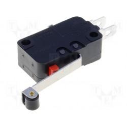 Microswitch avec levier à roulette à cosses de 4,8mm avec levier de 25mm