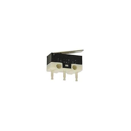 Microswitch subminiature Zippy pour circuit imprimé à languette 3Amp. 125Vac
