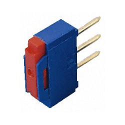 Inverseur dip-switch Apem vertical 1 contact R/T on / on