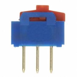 Inverseur dip-switch Apem vertical 1 contact R/T on / on à levier haut