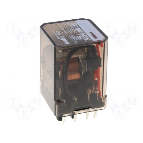 Relais TE Connectivity DPDT 2R/T 16Amp. 24Vdc