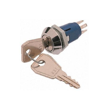 Contact à clé 1 contact repos / travail Ø perçage 16mm avec 2 clés