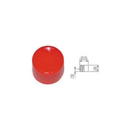Cabochon plastique rond rouge Apem