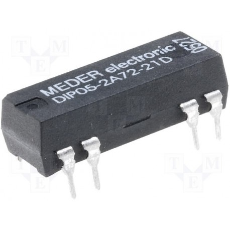 Relais reed 5Vdc 2 contact travail + diode