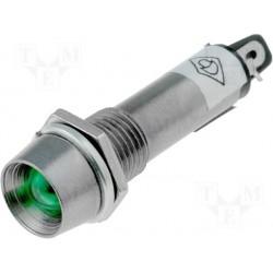Voyant chromé à led 12Vdc 10mm vert