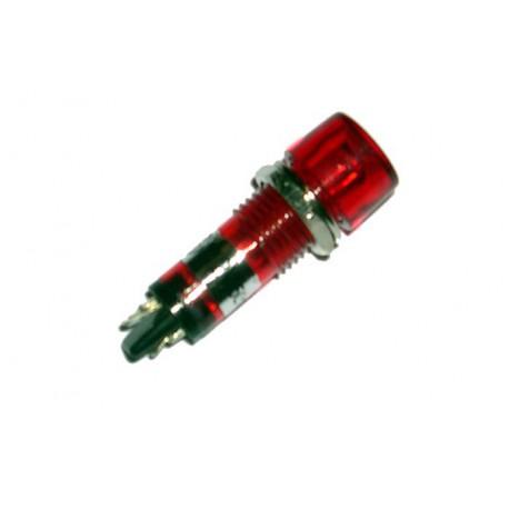 Voyant rond 12mm 12V rouge  Ø perçage 10mm