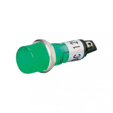 Voyant rond 11mm 12V vert