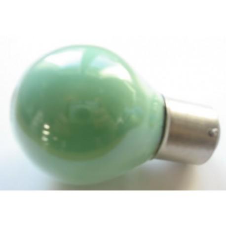 Ampoule culot B22 45x75mm 230V 15W verte