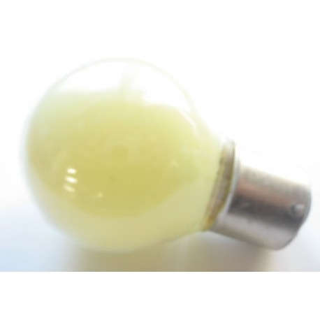 Ampoule culot B22 45x75mm 230V 15W jaune