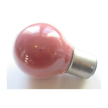 Ampoule culot B22 45x75mm 230V 15W rouge