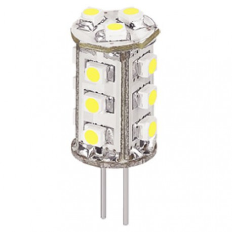 Lampe à culot G4 15 led blanc chaud 6 à 17V 1,2W