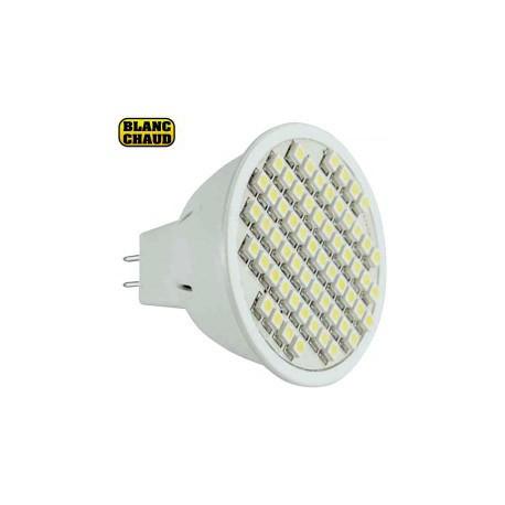 Lampe GU5.3 MR16 à 48 led blanches 6-17V 3W